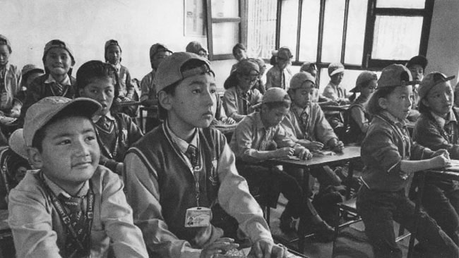 Children in the classroom in a school in Leh, Ladakh