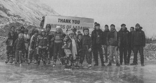 First group of ice hockey trainees in Nubra, Ladakh